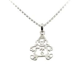 Naszyjnik srebrny z PAJACYKIEM dla dziewczynki