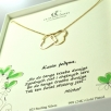 a Necklace 2 hearts gold - Kopia