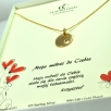 b Necklace tablet cut heart gold