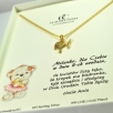 c Necklace kid fish gold