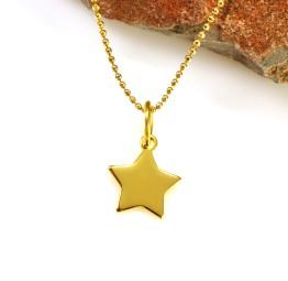 Pozłacany naszyjnik z gwiazdką