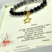 h Bracelet stone star gold
