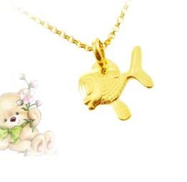 Naszyjnik pozłacany dla dziewczynki z Złotą Rybką