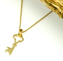 Naszyjnik pozłacany z kluczykiem