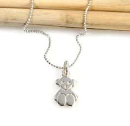Naszyjnik srebrny z MISIEM