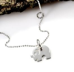Naszyjnik srebrny słonik