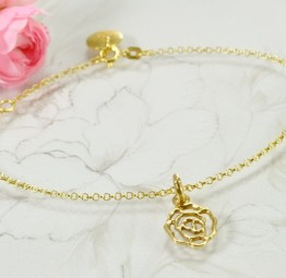 Bransoletka z różą na prezent
