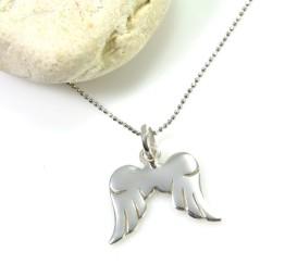 Naszyjnik srebrny ze skrzydłami anioła