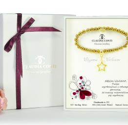 bransoletka na prezent z życzeniami w opakowaniu