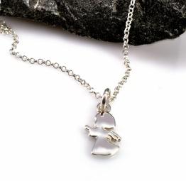 Aniołek srebrny naszyjnik dla dziewczynki