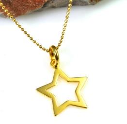naszyjnik pozłacany z gwiazdką na gwiazdkę