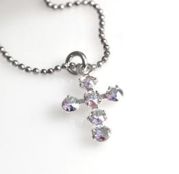 Naszyjnik Krzyżyk na prezent z kryształkami Swarovski