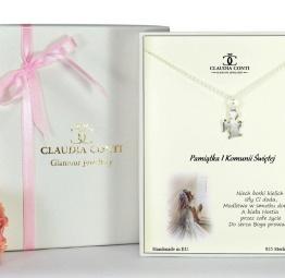 Biżuteria na Komunię Świetą naszyjnik z Aniołem