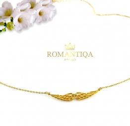 Naszyjnik na prezent dla dziewczyny, mamy, siostry ze skrzydłami anioła