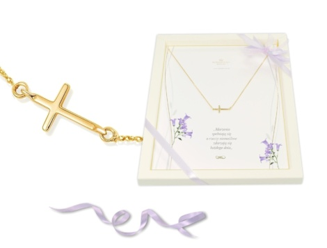 Naszyjnik z krzyżykiem na prezent