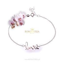 Piękny prezent dla dziewczyny bransoletka srebrna z perłą