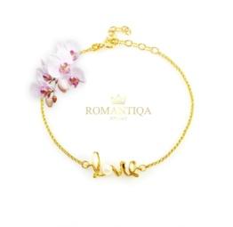 Piękna bransoletka z perłą love dla dziewczyny na prezent