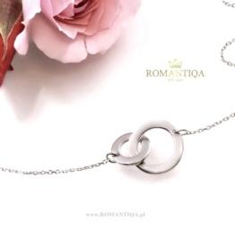 Biżuteria srebrna na prezent naszyjnik karma