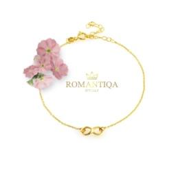 Biżuteria na prezent bransoletka z nieskończonością