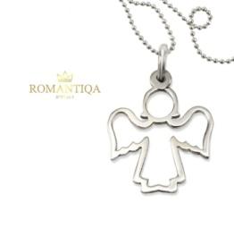 Aniołek na Pierwszą Komunię naszayjnik srebrny