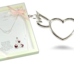 Prezent pod choinkę naszyjnik srebrny z sercem